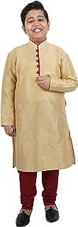 Crocon Kids Boys Silk Kurta Pajama Indian Ethnic Traditional Festive Fancy Wear Dress