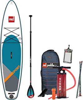 Red Paddle Co 2019 11'3 Sport Inflatable SUP with Carbon 50 Nylon 3 Part Paddle