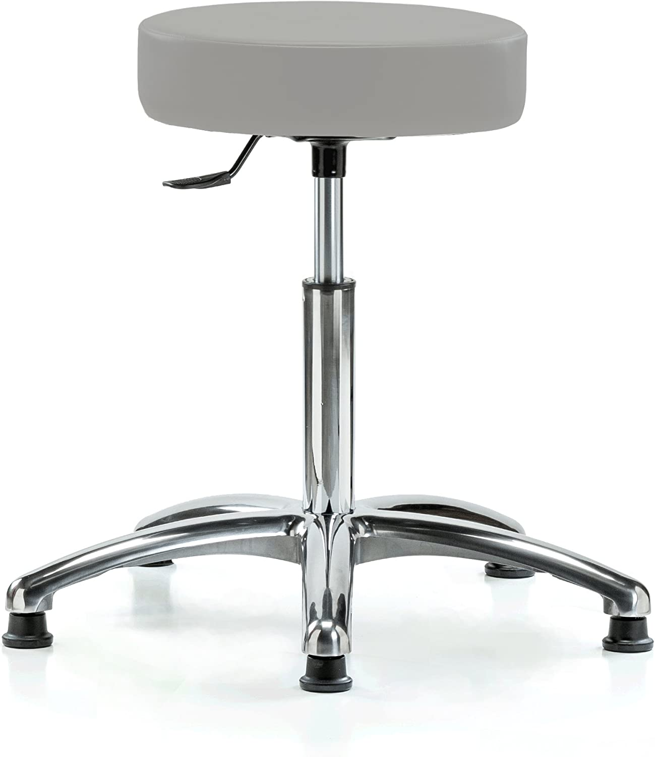 PERCH Chrome Same day shipping Phoenix Mall Rolling Single Lever Stool Swivel Height Adjustable