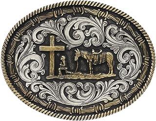Western Belt Buckles Herren Cowboy Gürtel Rodeo Silber Bronze Kupfer Strass