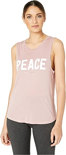 Peace Muscle Tank Top
