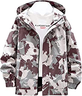 Beautyfine Men's Hoodies Coat Tops Autumn Spring Casual Solid Camouflage Patchwork Stand Collar Thin Jacket Outwear