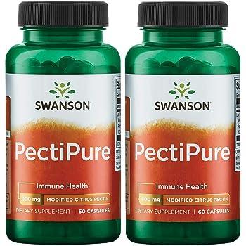 Swanson Pectipure Modified Citrus Pectin 600 Milligrams 60 Capsules 2 Pack