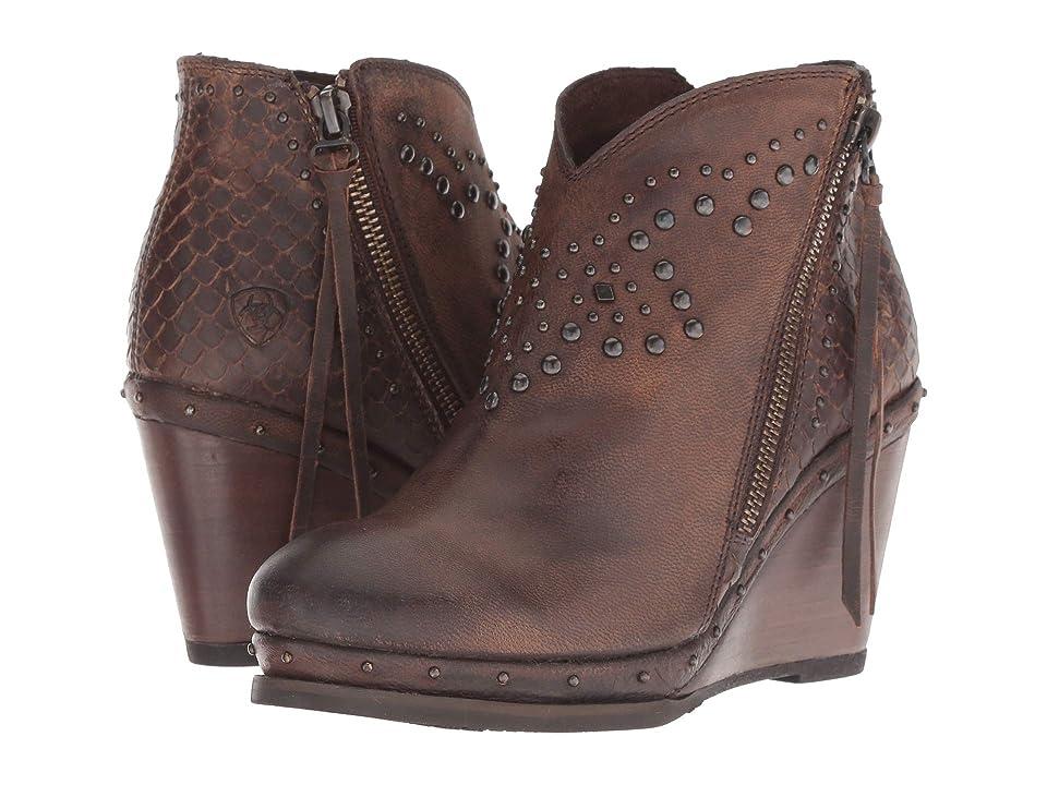 Ariat Stax (Weathered Russet/Diamondback Tan) Cowboy Boots