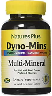 NaturesPlus Dyno-Mins Multi-Mineral - 90 Vegetarian Tablets - Enhanced Absorption - Hypoallergenic, Gluten-Free - 45 Servings