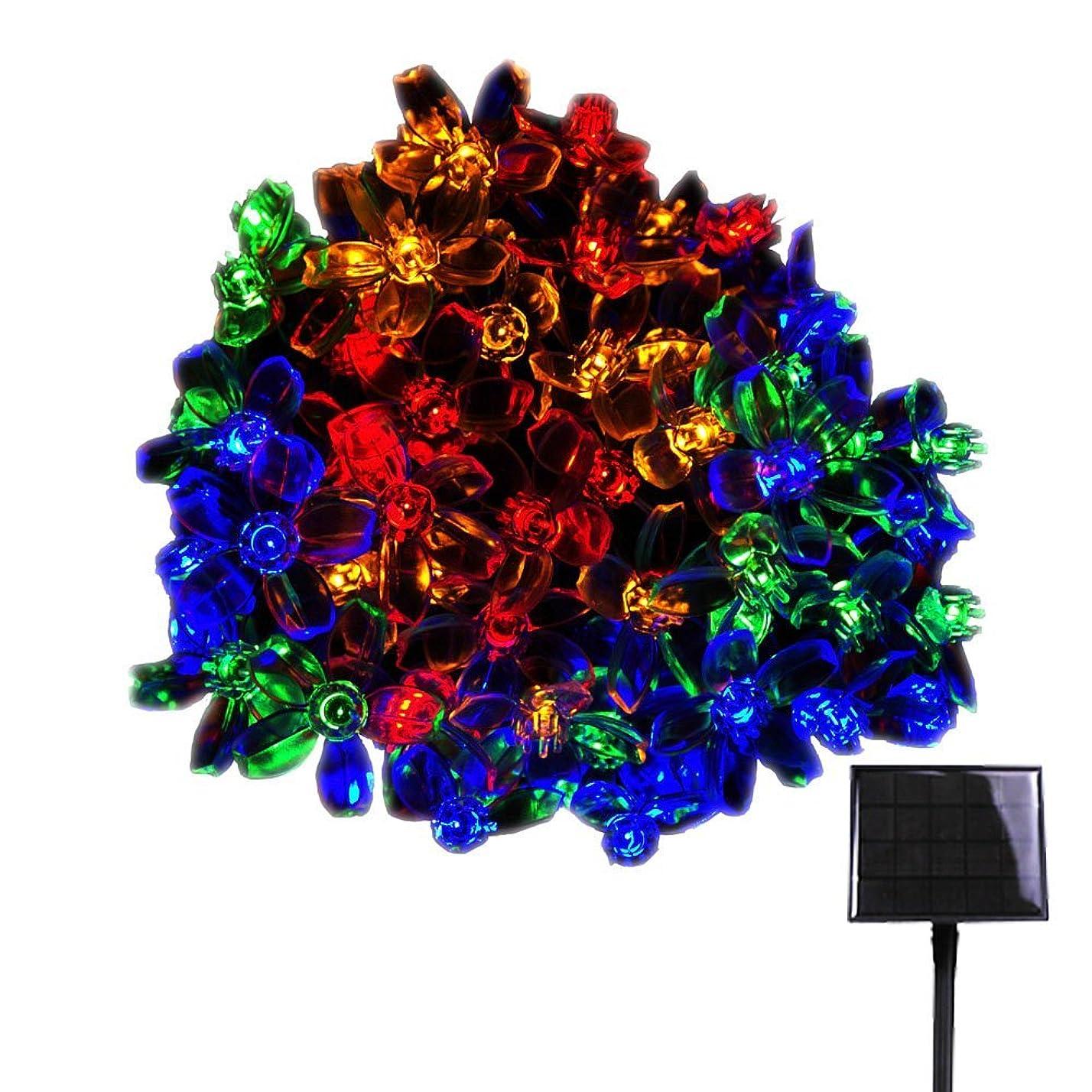進む試験変換RPGT ソーラー LEDイルミネーションライト 33m 300LED 桜の花 ソーラーライトストリング USB充電式 防水 8ライトモード ソーラー充電式 さくらタイプ クリスマスガーデン装飾ライトストリング 屋外、クリスマスツリー、ガーデン、誕生日、バレンタイン、ウェディングパーティーデコレーション(マルチカラー)