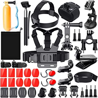 Adofys 41 in 1 Action Camera Accessory Kit Bundle Compatible for GoPro Hero 6 5 4 3/SJCAM/Akaso/Apeman/Xiaomi Yi Action Camera (40 in 1)