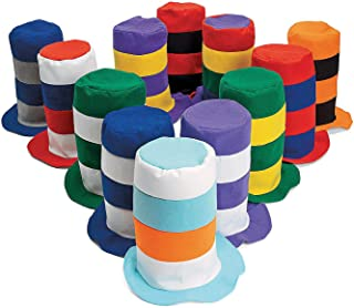 Fun Express Stovepipe Party Hat Assortment, 12 Count