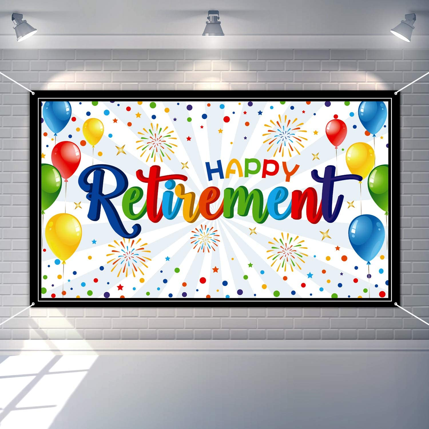 Happy At the price of surprise Retirement Party Decorations Ban Colorful Giant quality assurance