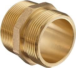 Moon 358-1561511 Brass Fire Hose Adapter, Nipple, 1-1/2
