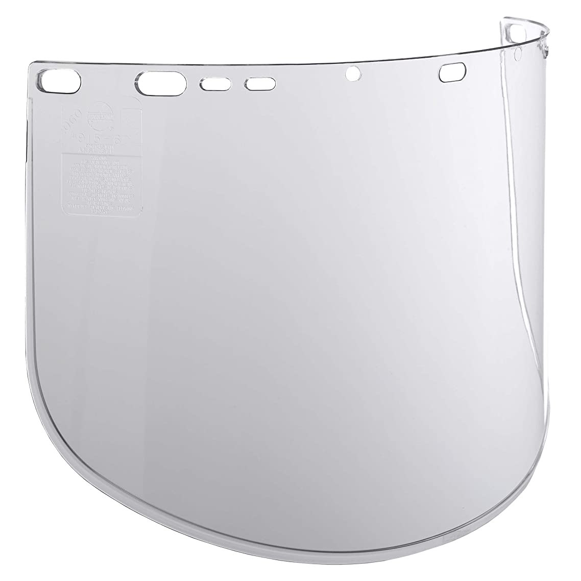 """Jackson Safety F40 Propionate Lightweight Face Shield (29084), 9"""" x 15.5"""" x 0.06"""", Clear, Face Protection, Unbound, 12 Shields / Case"""