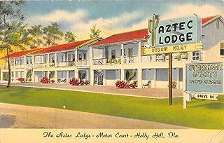Holly Hill Florida Aztec Lodge Motor Court Antique Postcard K85332