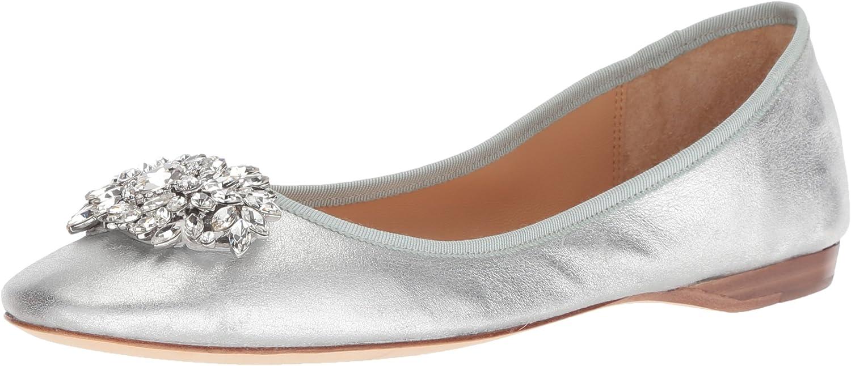 Badgley Mischka Woherren Pippa Ballet Flat, Flat, Silber Metallic Suede, 5 M US  online speichern