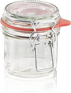 Leifheit Bygelglas, 135 ml, diskmaskinssäkert konserveringsglas, förvaringsburk för insättning, matlagning och matlagning,...