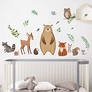 Kids Wall Stickers Childrens Wall Decals Wall Art Curious Raven Wall Sticker Decal Kids Room Animals Wall Stickers Girl Boy