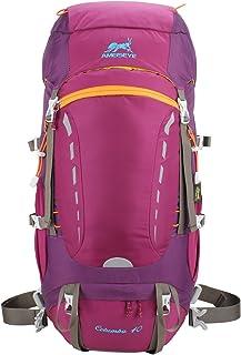 40L Mochilas de Montaña Acampada al Aire Libre Impermeable Macutos de Viaje Senderismo Trekking con Cubierta de Lluvia