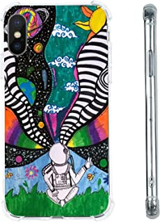 Hippie Astronaut Space Planets Case for iPhone Xs Max, Cool Aesthetic Indie Tie Dye Astronaut Case for Women Girls, Unique...