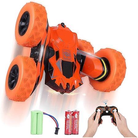 Jouet en Plein Air pour Enfants SGILE Voiture T/él/écommand/ée Imperm/éable 2,4 GHz 4WD Voiture de Cascade RC Amphibie avec Rotation et Cascades /à 360/° Double Face