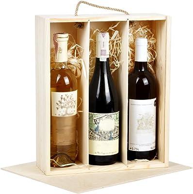 Caja de Regalo Madera botellas de vino vino caja regalo caja 3 ...
