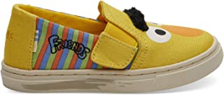 TOMS Sesame Street X Bert and Ernie Face Tiny Luca Slip-Ons 10013641 (Size: 5) Yellow