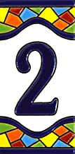House numbers 4 inch. Handpainted house number tiles for signs, addresses and names. Address numbers for houses. House address numbers and letters. Design MOSAICO MEDIANO 4,29