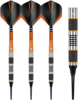 RED DRAGON Amberjack Soft Tip: 18g – Tungsten Steel Soft Tip Darts Set with Flights and Stems