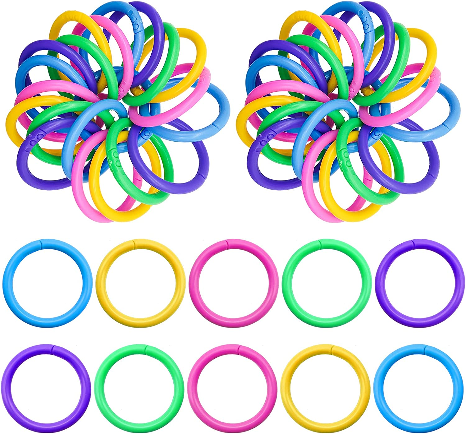 100pcs Plastic Loose-Leaf favorite Rings Binder New product type Ring 1.1inch Multi-Color