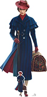 Star Cutouts SC1296 Mary Poppins Emily Blunt - Cartón de tamaño real de Disney (187 x 90 cm), diseño de Mary Poppins, mult...