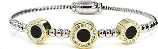 KIAH 18K Gold Plated Cubic Zirconia S. Steel Magnet Bracelet for Women Girls Fashion Jewelry