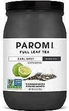 Paromi Tea Earl Grey Black Tea, 15 Pyramid Tea Bags - Non-GMO
