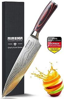 """Couteau Chef, Couteau Cuisine Professionnel 8""""- Couteau japonais - Acier inoxydable allemand - Meilleur rapport qualité pr..."""