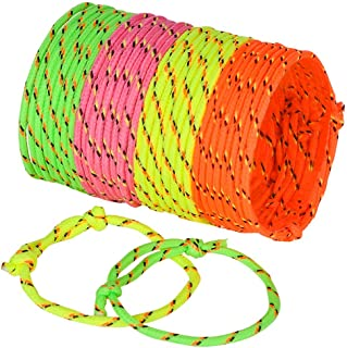 Friendship Bracelets for Kids - (Bulk Pack of 144) Neon Adjustable Woven Rope Best Friend Bracelets for Girls and Boys - Bff Toys for Prizes, Birthdays & Party Favors by Bedwina