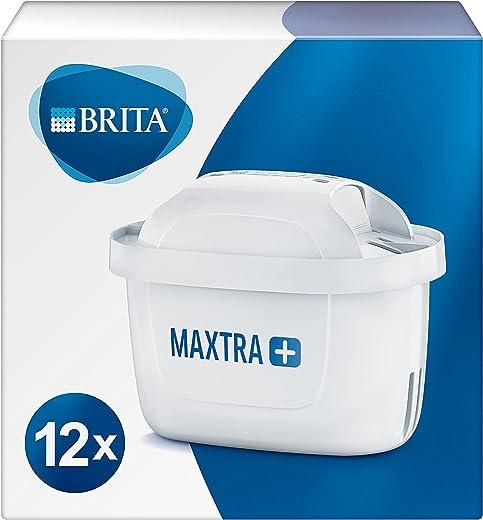BRITA Wasserfilter-Kartusche MAXTRA+ 12er Pack – Kartuschen für alle BRITA Wasserfilter zur Reduzierung von Kalk, Chlor & geschmacksstörenden...
