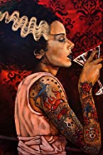 Bride Cocktail by Mike Bell Bride of Frankenstein Monster Tattoo Wall Art Print