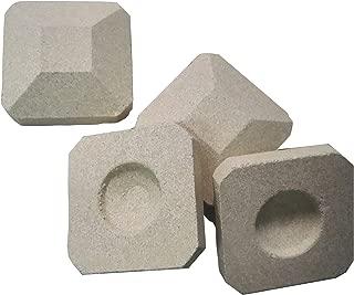 soldbbq Efficient Radiates Heat -Reusable Ceramic Briquettes, Replacement for Lynx L27 Gas Grill,50 Pieces, 2