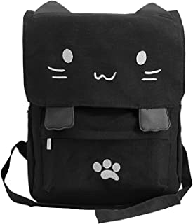 Cute Canvas Cat Print Backpack School Bag Light weight Book Bags Ruchsack College Backpack Daypack Backpacks for Girls/Boys