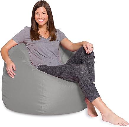 Comfy Large Pvc Bean Bag, Grey