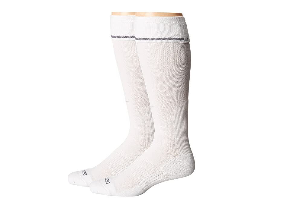 Nike 2 Pair Pack Baseball Sock (White/Neutral Grey) Crew Cut Socks Shoes, Gray