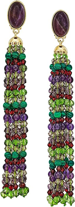 LAUREN Ralph Lauren - Beaded Tassel Clip Earrings