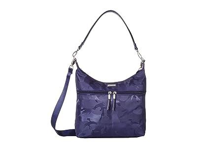 Baggallini Convertible Large Hobo (Navy Jacquard) Hobo Handbags