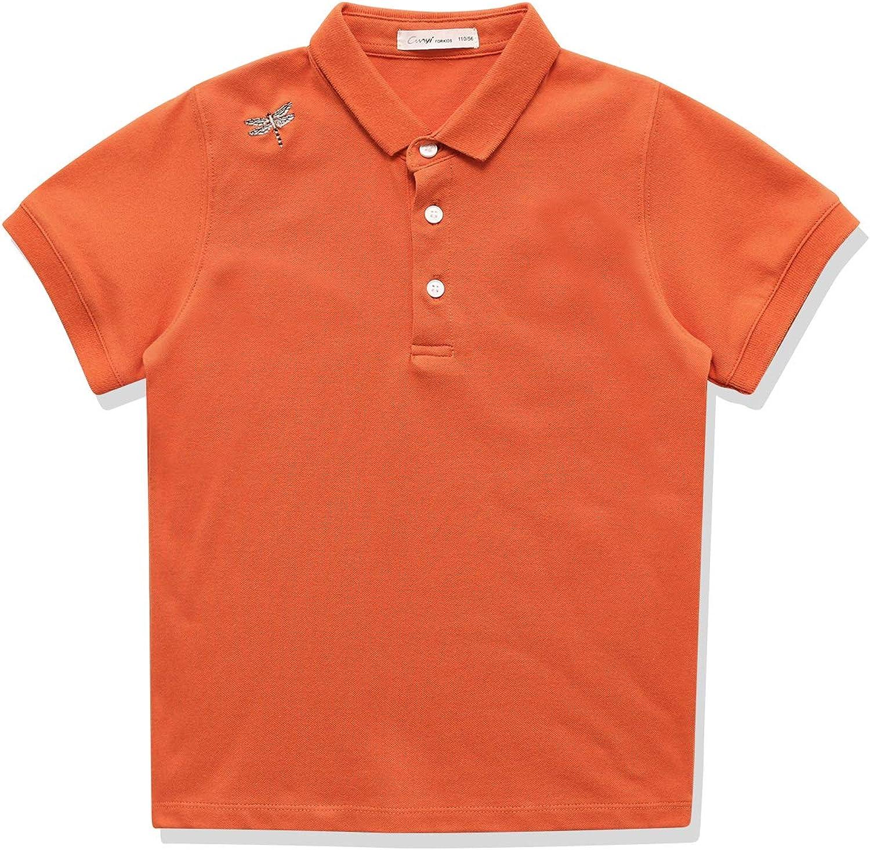 CUNYI Ranking TOP2 Boys' Cotton Pique Polo Shirts Max 78% OFF Tops Uniform Sleeve Short
