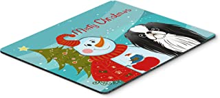 Caroline's Treasures Snowman with Japanese Chin Mouse Pad, Hot Pad or Trivet, Multicolor (BB1850MP)