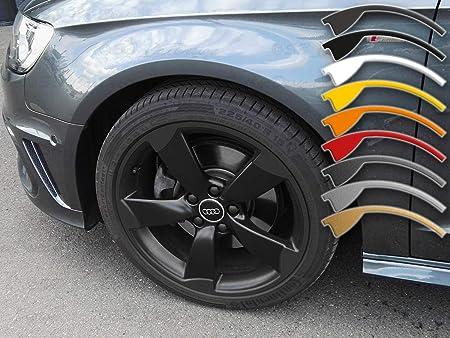 7 5 8x18 Zoll Felgen Aufkleber Für A1 A3 A4 Audi 5 Arm Rotor Felgen Rim Decal Anthrazit Metallic Auto