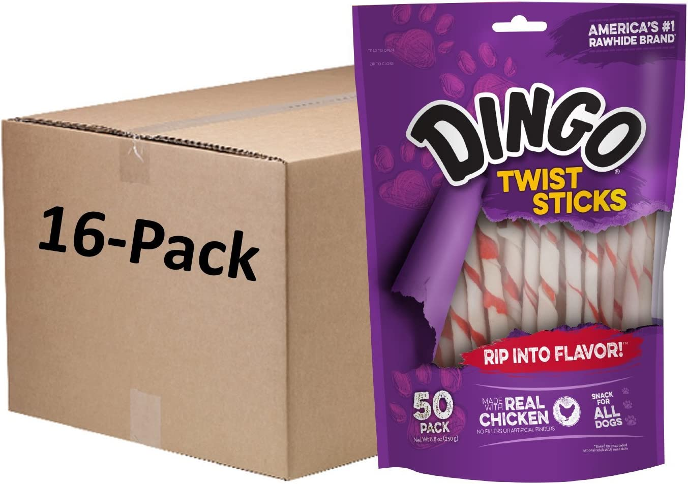 Dingo Twist Selling and selling Sticks Rawhide Chews Made Real With Chicken Free Shipping New