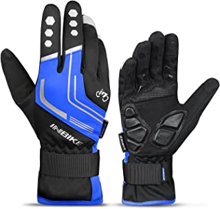 INBIKE Men's Windproof Reflective Ultra Thermal Winter Cycling Bike Gloves with Thick Gel Padding Touch Screen