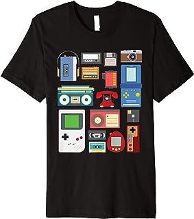 Vintage 90er Jahre Technologie Alte Gadgets Geschenk TShirt