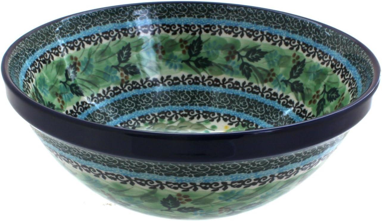 Blue Rose Polish Pottery Shipping included Teresa Medium Bowl Sale Serving