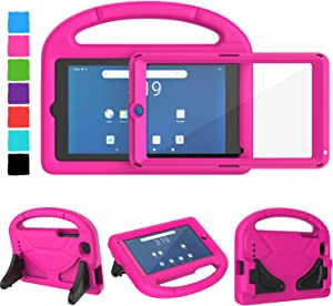 Tirin Kids Case for Walmart Onn 7 inch Tablet, Built-in Screen Protector, Shockproof Handle Stand Cover Case for Surf Onn 7