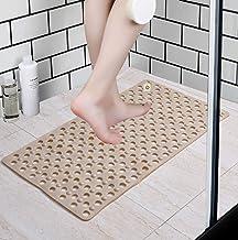 Yellow Weaves Non Slip PVC Bath /Shower mat with Anti Slip Suction Cups(80 X 48 cm) Beige