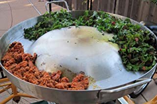Heavy Duty Comal Convex Stainless Steel Acero Inoxidable Outdoors Frying Bowl Cookware for Stir Fry Home Restaurant Professional Commercial Use Para Tacos-21